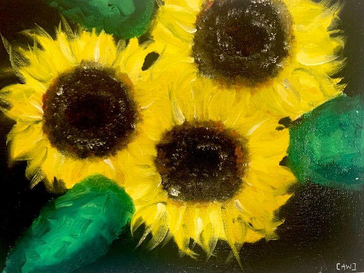Sunflower - Abbey Wineglass, an Artist