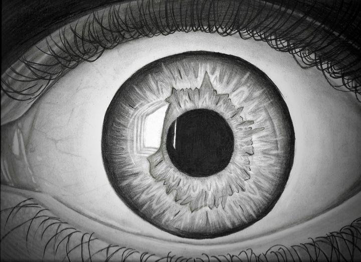 Realistic scared eye - Art by Khaola❤