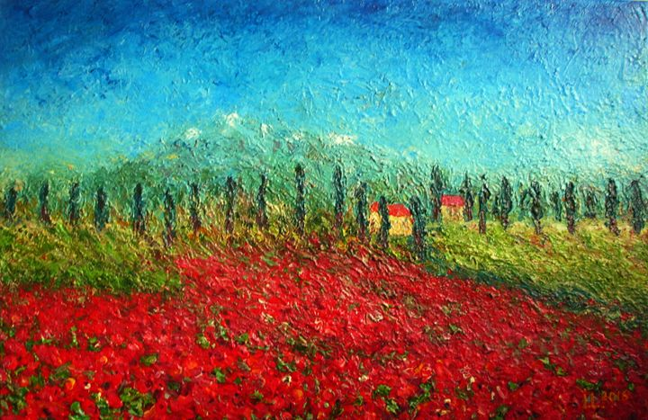 Summer of poppies - ArtBonBon Inga Leitasa