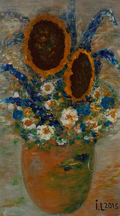 Two sunflowers - ArtBonBon Inga Leitasa