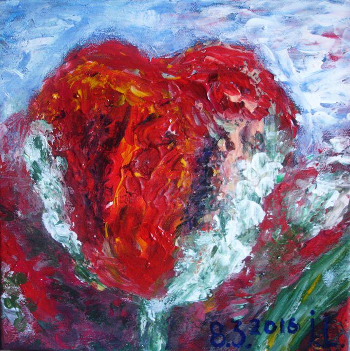 Crazy tulip - ArtBonBon Inga Leitasa