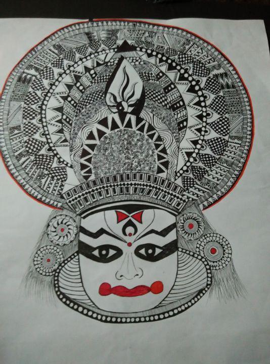 The Kathakali Dance Anagha Ramesh Drawings Illustration Ethnic Cultural Tribal Asian Indian Indian Artpal
