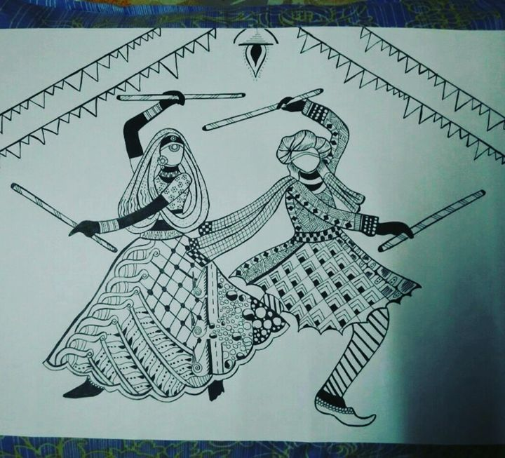 Dandiya,The dance of joy - Anagha Ramesh