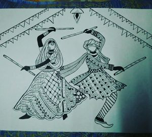 Dandiya,The dance of joy