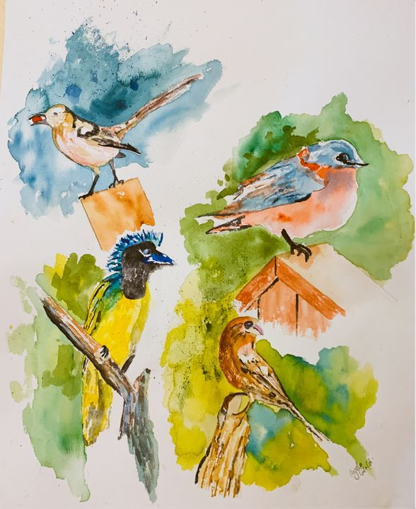 Feathered Friends - Angela Giraldi