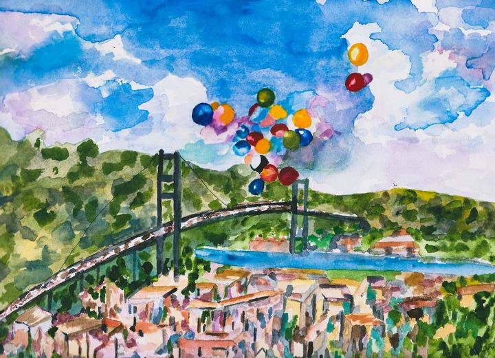 Balloons Over the Bosphorus - Angela Giraldi