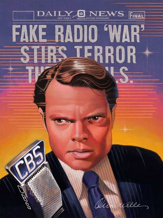 Orson Welles - War of the Worlds - Dave Robinson's Art Gallery