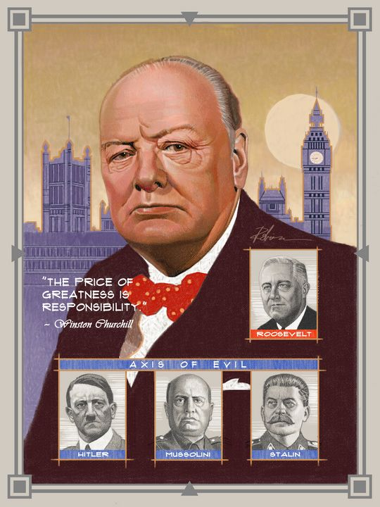 Sir Winston Churchill - Dave Robinson's Art Gallery