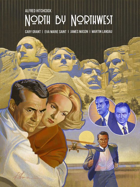 Hitchcock's North by Northwest - Dave Robinson's Art Gallery