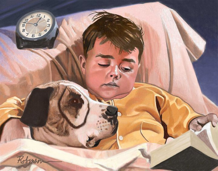 Spanky and Petey Dog - Dave Robinson's Art Gallery