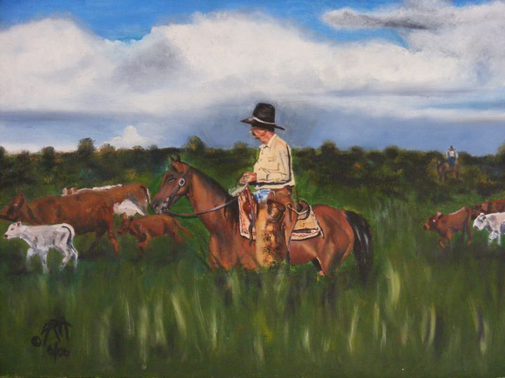 Cattle - Paintings by Sara