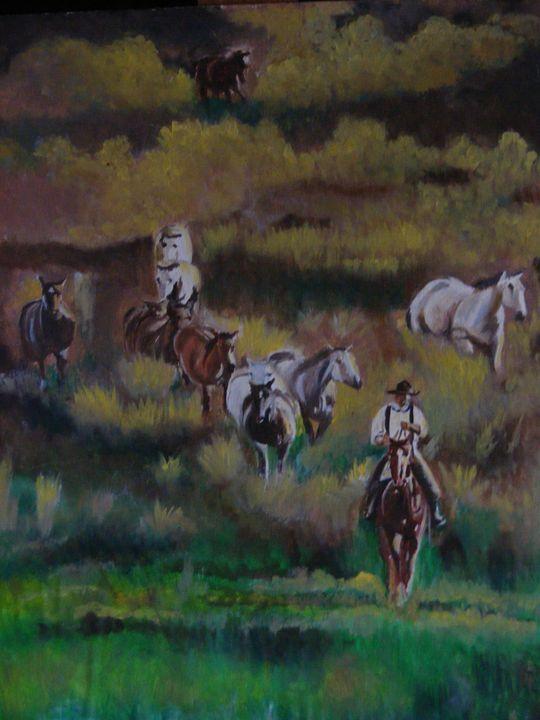 Morning Ride - Paintings by Sara