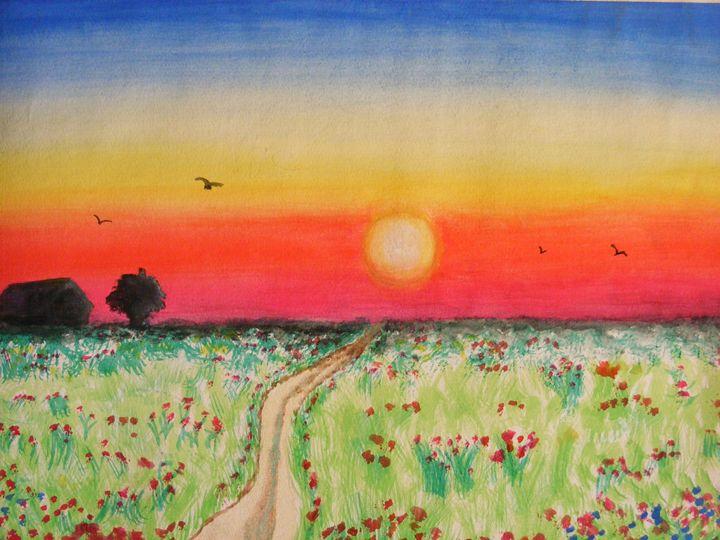 Sunset - Paintings by Sara
