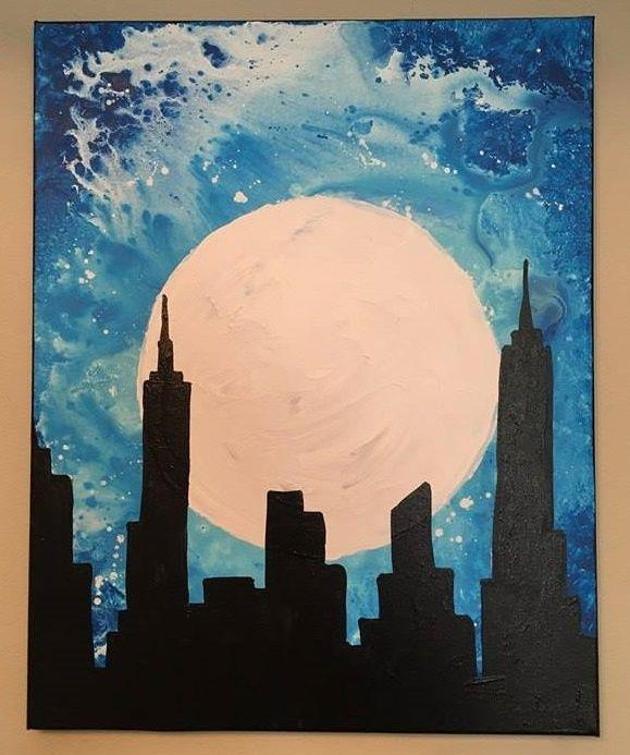 City Moon - A Bruse Art