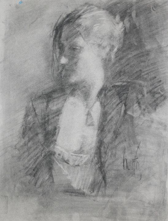 Charcoal clothed Female - Berto Ortega