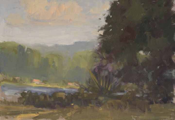Across the lake - Berto Ortega