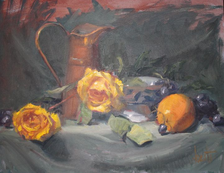 Fruit and Roses - Berto Ortega