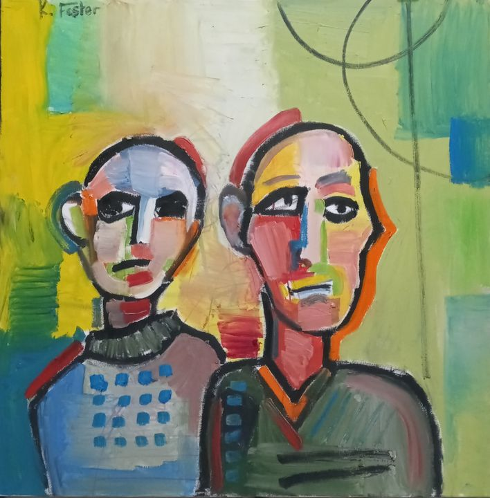 Two figures from the shoulders up - Kyle foster