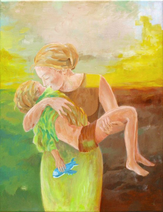 Mother love - Paintings by Linda Knotter