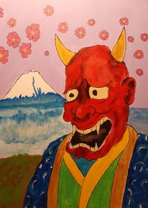 Hannya mask Mt. Fuji