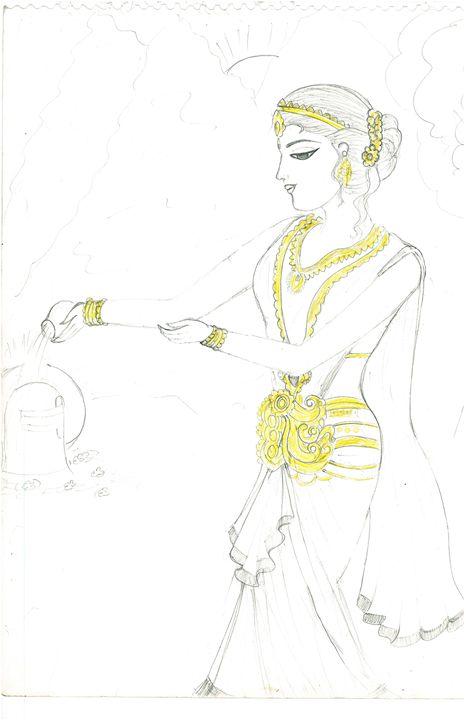 sketching of parvati ma - Engineer Mansi tiwari