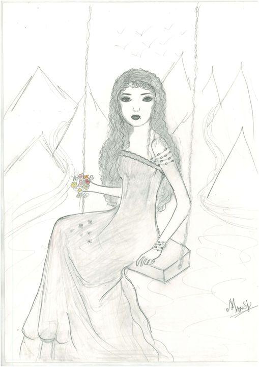 sketching of an angel - Engineer Mansi tiwari