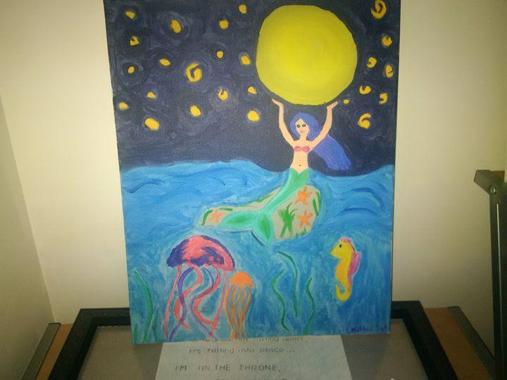 Mermaid and the moon - Kittie von Kat Kollection