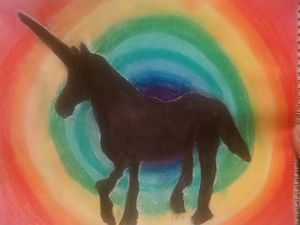 Unicorn on rainbow