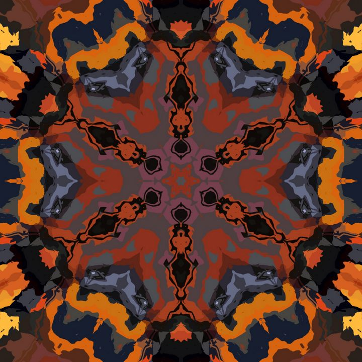 Abstract multicolored art - Yayan