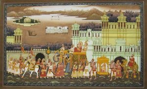 Indian king's procession