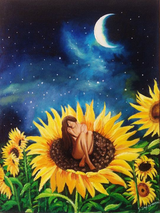 Sunflower Girl - Beyond ART Gallery