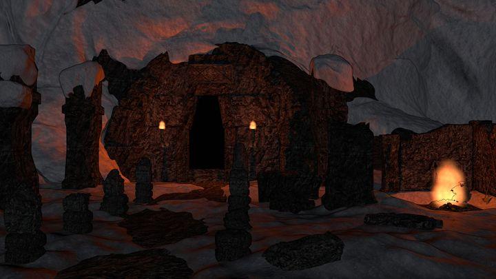 Mountain Ruins - T. Gossler Digital Art