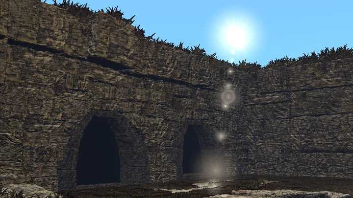 Jungle Ruins - T. Gossler Digital Art