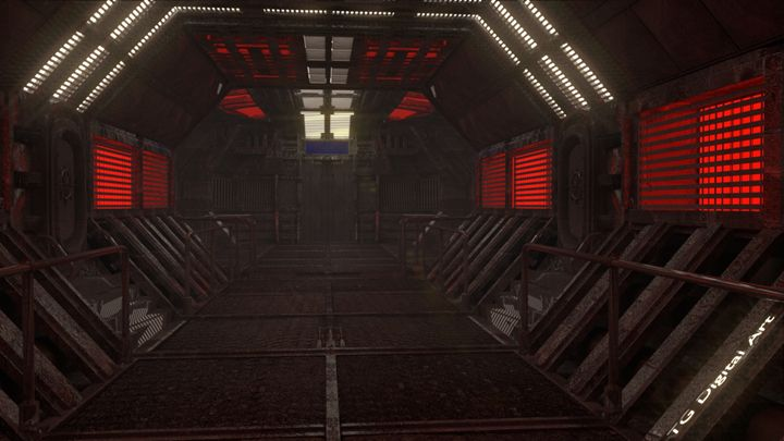 Space Station Hallway - T. Gossler Digital Art