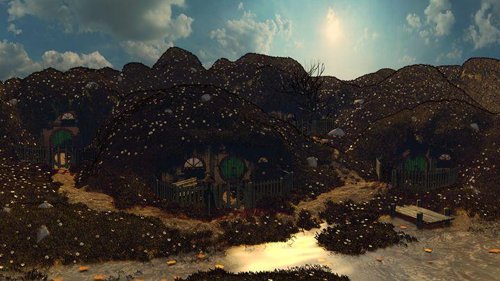 Halfling Village - T. Gossler Digital Art