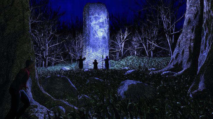 At the Black Stone - T. Gossler Digital Art