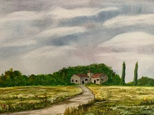 Landscape with houses