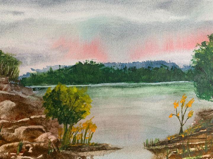 Lake landscape - Algay