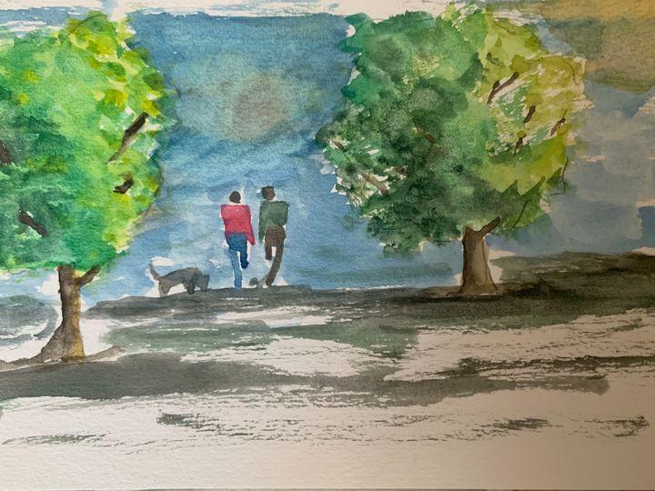 Walking in park - Algay