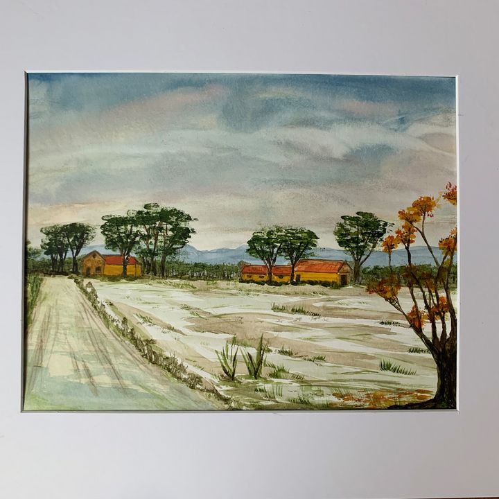 Field with houses - Algay
