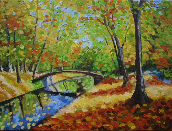 Autumn farbes - E.E.Kruglova, Ukrainian paints