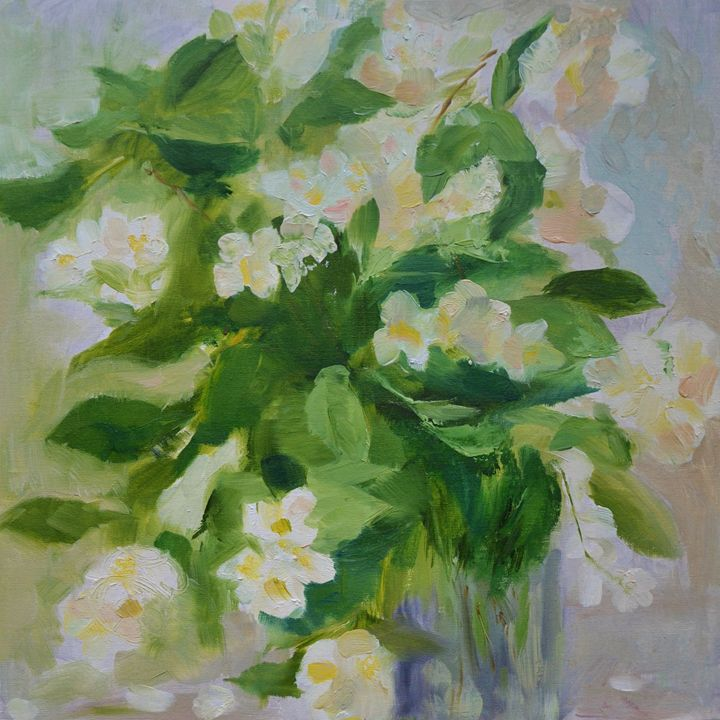 Jasmine flowers - E.E.Kruglova, Ukrainian paints