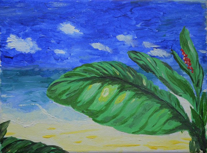 Tropical middle of nowhere - E.E.Kruglova, Ukrainian paints