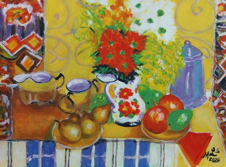 Parisian Morning Meal - Mo Leyva's Art
