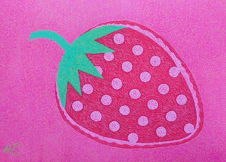 Graphic Strawberry - Mo Leyva's Art