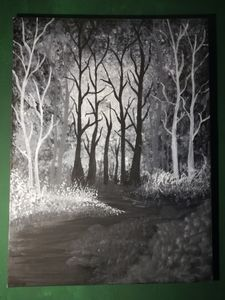 Moonlit forest (glow in the dark)