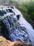 waterfall in the summer
