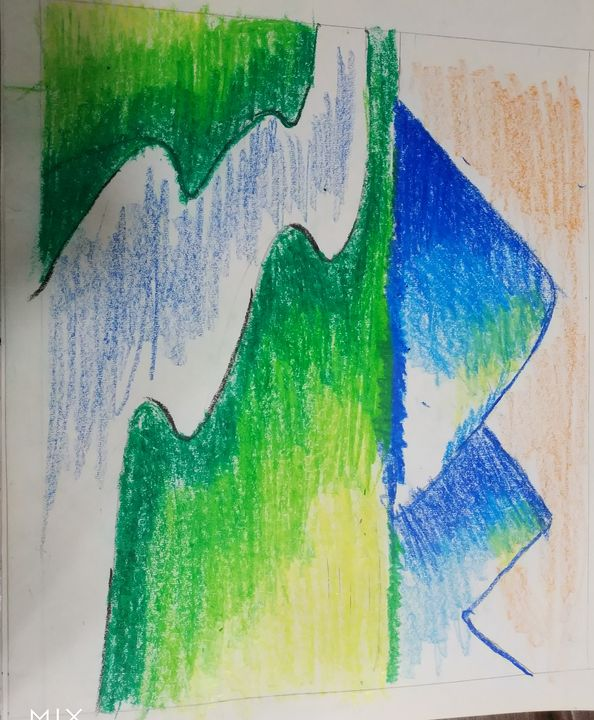 Beautiful landscape by 7 year old - Vibes