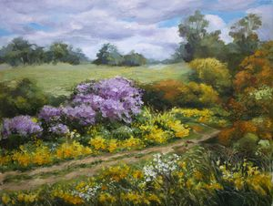 """Spring wild flowers in the field"""
