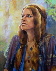 """ Hippy girl """